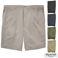 Haggar Big & Tall Men's FLAT FRONT Casual Shorts Expandable Waist Sizes 44 - 60