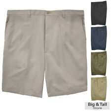 Haggar Big & Tall Men's FLAT FRONT Casual Shorts Expandable Waist Sizes 44 - 60