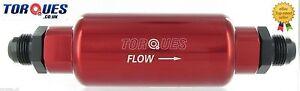 AN -6 (AN6 JIC6) Red Billet High Flow Microglass Ethanol Fuel Filter 6 Micron