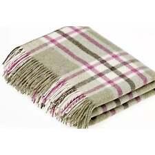 Abraham Moon Bronte Throw T0180/ad28 Arncliffe Fern. 100 Shetland Wool
