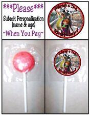 24 Hotel Transylvania 3 Birthday Party Lollipop Stickers Supplies Dracula Mavis