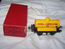 Vintage Clockwork Hornby 0 Gauge 42212 Shell lubricating Oil Tank wagon Boxed