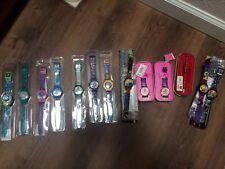 Lot Disney Movies,Barbie, Burton's Nightmare B4 Christmas Digital Watches & Pen