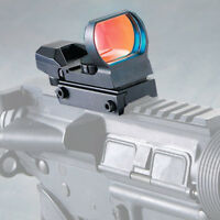 Tactical Holographic Red Green 4 Reticle Reflex Dot Laser Sight 20mm Rail Mount