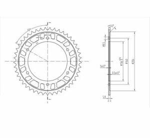 BikeMaster 240 005 45 Rear Steel Sprocket 45T 520