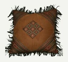ONE Croscill Payson FRINGED SQUARE PILLOW Southwestern Aztec NEW  (HAVE 6)