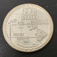 Hawaii Medal- 50th State: Hawaii 1984 Silver Jubilee. .999 Silver
