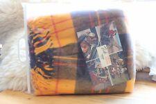 Vintage Faribo Glengary Yellow Plaid Throw Blanket Original Packaging