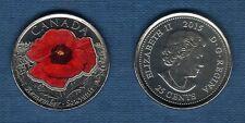 Canada - 25 Cents 2015 Coquelicot Souvenir Couleur Poppy Flanders Field