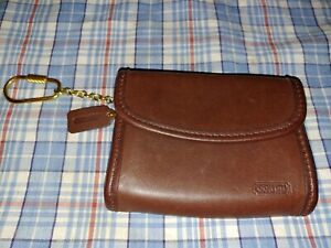 Mens Coach Genuine Satchel Pouch/New! Rustic Brown! $89.00 New!