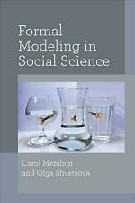 Formal Modeling in Social Science by Carol Mershon Hardcover Book Free Shipping!