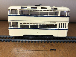 OO Gauge 4mm Scale White Metal Kit Built Model Tram Motorised- Faulty