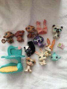 Littlest Pet Shop Figure Bundle Job Lot Hasbro LPS Red Magnet 2005 Blue Magnet
