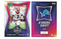 2020 Panini Instant NFL Draft Night RC D'Andre Swift ROOKIE Card Lions SP /577