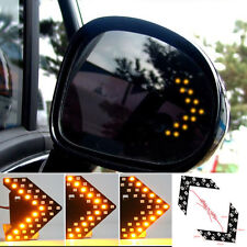 2X Car Rearview Mirror Panel Arrow Yellow 14-SMD LED Turn Signal Indicator Lamp