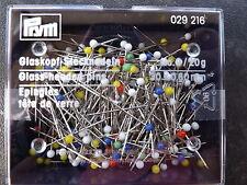 Prym verre-headed PINS 30 mm x 0.60 mm 20 g dans boîte sealded