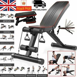 Adjustable Weight Bench GYM Workout Flat Incline Decline Sit Up Lifting UK