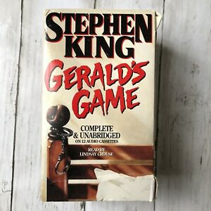 Stephen King Gerald's Game on 12 Audio Cassettes English Vintage