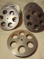 "Lot of 10pc Empty 16mm Aluminum Metal Film Reel 7"" 400ft Movie Take Up 400' 120m"
