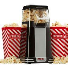 Cooks Professional Retro Popcorn Maker with 6 Popcorn Boxes - Black