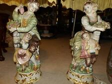 1930'S MADE IN ITALY LAMP BOY W GIRL, GIRL WITH BOY, SIGNED ORG. AMAZING