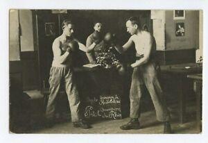BOYLE x PITOT France European Boxing Sports original 1920s Real Photo postcard