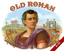 VINTAGE OLD ROMAN EMPEROR SPQR ROME SMOKE CIGAR AD POSTER ART REAL CANVAS PRINT