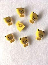 amarillo kitten tallo botones nailon - tamaño 15mm - pack de 7