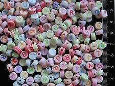 130 perles ALPHABET 7mm** sachet de 20g de perles**