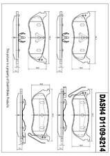 D1109 Premium  Quality REAR DISC BRAKE PAD SET D1109