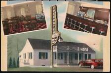 GAULEY BRIDGE WV Edgewater Steak House Restaurant Vtg Linen Postcard Old West VA