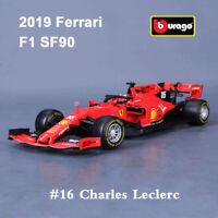 BBURAGO 1:18 Scale Diecast Model Car 2019 F1 Ferrari SF90 #16 Charles Leclerc