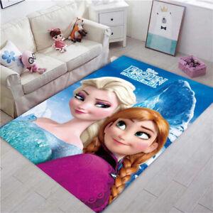 2021 Frozen Area Rug Carpet 3D Print Anti-Skid Rug Home Living Room Floor Mats