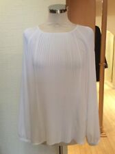 Just White Blouse Size 18 BNWT Winter White Pleated RRP £90 Now £40