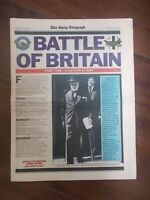 DAILY TELEGRAPH NEWSPAPER JUNE 16th 1990 BATTLE OF BRITAIN SPECIAL PART 1