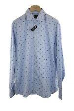Hackett Long Sleeve Light Blue Pattern Shirt Size XXL RRP140 PO05