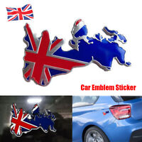 3D England Union Jack GB Car Map Badge Metal Chrome Symbol Decal Sticker Van New