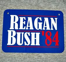 Metal Sign Ronald Reagan - George H Bush president campaign poster United States