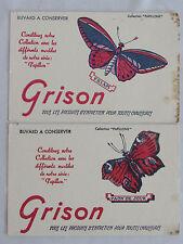 10C19 LOT 2 ANCIEN BUVARD PUBLICITAIRE PUB PRODUIT ENTRETIEN CHAUSSURES GRISON