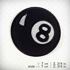 Eight 8 ball EMBROIDERED IRON ON PATCH Pool Billiards Cue Sport  Game Profession