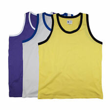 Men's No Pattern Sleeveless Regular Crew Neck Casual Shirts & Tops