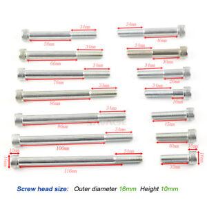 New M10*1.25 Steel Metric Full Thread Allen Hex Socket Cap Head Screw Bolt