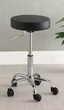 Furniture of America Ascon Adjustable Swivel Stool CM-BR6911BK Black Leatherette