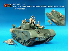Hobby Fan 1:35 British Infantry Riding with Churchill Tank 4 Figure Resin HF-590