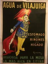 "Original Vintage Cappiello ""Agua de Vilajuiga"" Spanish Water Poster Linen Backed"