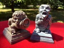 Lot Set Of 2 Gargoyles Tongue Sticking Out Trolls Leprechauns Dragon Fantasy