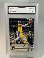 GMA Gem Mint 10: 2019 Lebron James, Panini Chronicles #112, Los Angeles Lakers