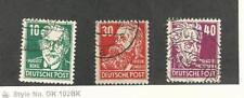 Germany - DDR, Postage Stamp, #125, 130-131 Used, 1953 Engels, Bebel
