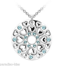 Collana Donna Cristallo Swarovski elements Tondo Celeste A81