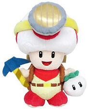 "Little Buddy 1409 Nintendo Super Mario 9"" Standing Captain Toad Plush Doll"
